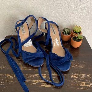 Steve Madden | Clary blue ballerina heels 10M
